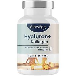 Complejo de colágeno, ácido hialurónico, vitamina C y más, 180 cápsulas