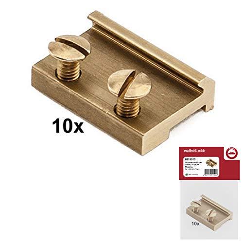 ML-Train Schienenverbinder 19 mm 10 Stück Messing für LGB 8119010