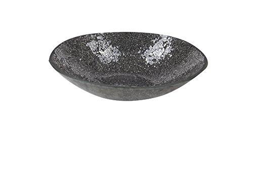 Mosaik-Glas Deko-Schale anthrazit/dunkelgrau