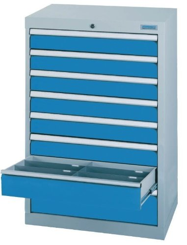 Schubladenschrank Serie T500-6 mit 8 Schubladen verschiedene BLH Schubladenschränke Tiefe 500