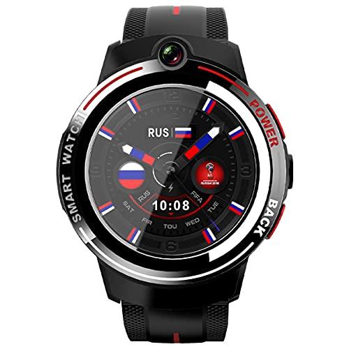 Lazzzgua 4g Smart Watch 1.39 Pulgadas Pantalla Táctil Redonda 830mah Ip65 Cámara Doble Impermeable Smartwatches WiFi Bluetooth GPS Pulsera De Ritmo Cardíaco