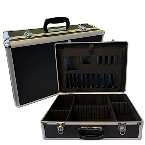 De electricista Herramienta de aluminio bloqueo Negro, maleta, Caja de almacenamiento Organizador