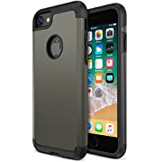 iPhone 8 Case, Trianium Protanium Apple iPhone 8 Case (2017) with Heavy Duty Protection/Shock Absorption/Dual Layer TPU + Rigid Back Armor/Scratch Resistant/Reinforced Corner Frame -Gunmetal