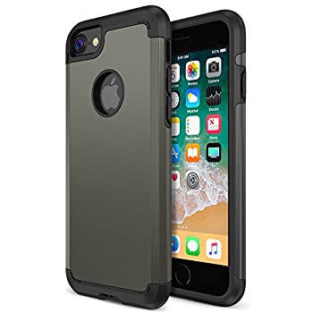 iPhone 8 Case Trianium Protanium Apple iPhone 8 Case  2017  with Heavy Duty Protection/Shock Absorption/Dual Layer TPU + Rigid Back Armor/Scratch Resistant/Reinforced Corner Frame -Gunmetal
