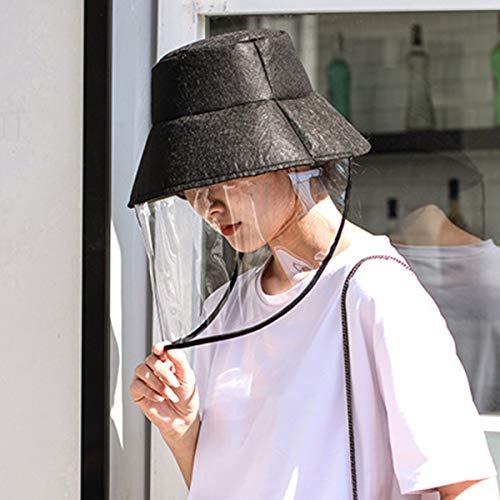 ELEGIANT Fischerhut mit Anti-Speichel-Splash-Gesichtsschutzabdeckung