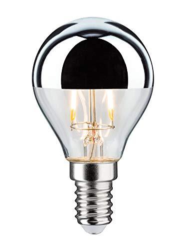 Paulmann 28663 LED Lampe Filament Tropfen 2,6 Watt Leuchtmittel Kopfspiegel Silber 2700 K Warmweiß E14