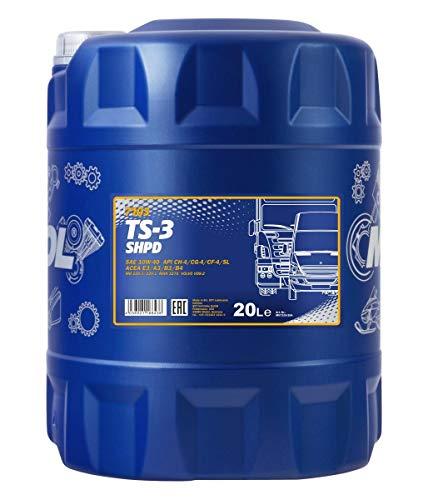 MANNOL TS-3 SHPD 10W-40 API CH-4/CG-4/CF-4/SL Motorenöl, 20 Liter