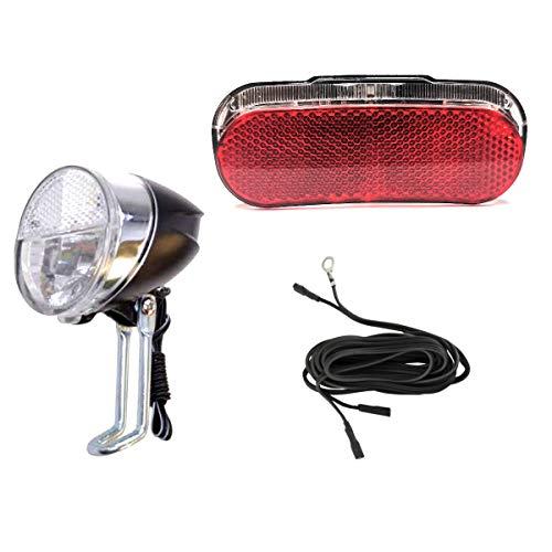 Filmer/Anlun Fahrrad LED Beleuchtungsset mit Helligkeitssensor vorne und Standlicht hinten