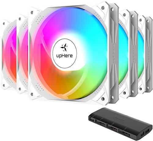 upHere 120mm SYNC ARGB LED Lüfter für PC, leiser Lüfter mit hoher Leistung für PC-Kühlung, NT1207-5
