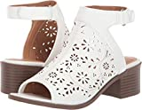 NINE WEST Kids Girl's Adalirah (Little Kid/Big Kid) White Smooth 6 Big Kid