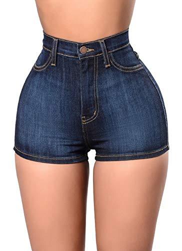 Irachel para Mujer Pantalones Cortos De Talle Alto para Mode De Marca...