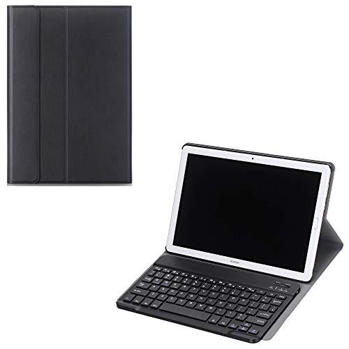 JundH Huawei MediaPad M5 10 (Pro) Tastatur-Schutzhülle, Huawei MediaPad M5 10 (Pro) Lederhülle, Folio-Hülle mit Abnehmbarer Bluetooth-Tastatur aus Kunststoff für 10,8 Zoll Huawei MediaPad M5 10 (Pro)
