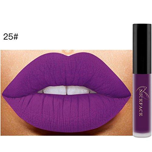 26 Couleurs Rouge à Lèvres Liquide Mat Waterproof Hydratant Brillant Maquillage à Lèvres (25#)