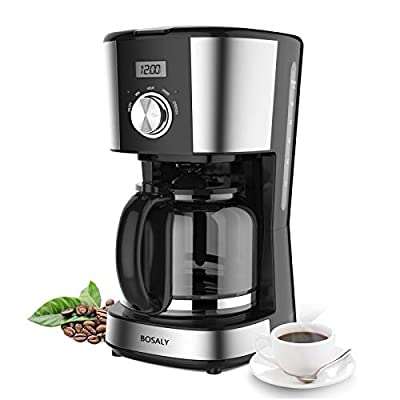 12-Cups Coffee Maker, BOSALY Programmable Drip ...