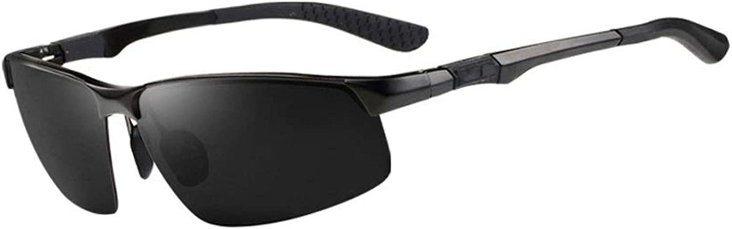 Men's Polarized Sunglasses Driving Against Road Surface Refracting Light AntiUV Outdoor Riding Exercise (color   A)
