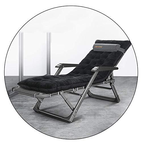 Sillas Plegables Zero Gravity Silla de Playa Tumbona reclinable para Playa, jardín, Camping, Exterior, Interior, con Almohadilla de algodón extraíble y reposacabezas, Carga 180 kg (Color: ne