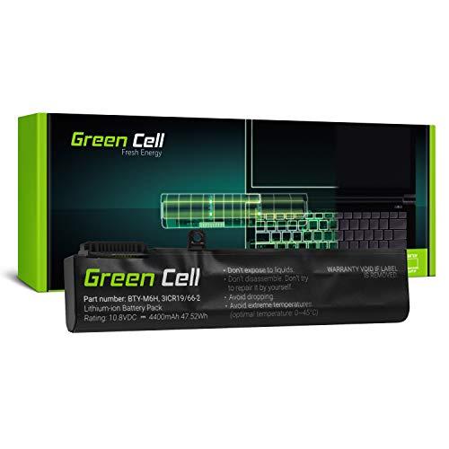 Green Cell® BTY-M6H Batería para MSI GE62 GE63 GE72 GE73 GE75 GL62 GL63 GL73 GL65 GL72 GP62 GP63 GP72 GP73 GV62 GV72 PE60 PE62 PE70 PE72 2QE 7RD Portátil (4400mAh 10.8V Negro)