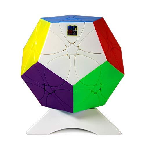 MoYu MoFang JiaoShi Meilong Plum Blossom Megaminx Dodecahedron Redi Rediminx Magic Cube Cubing Aula Suave Twist Puzzle Cube Juguetes Especiales con un trípode