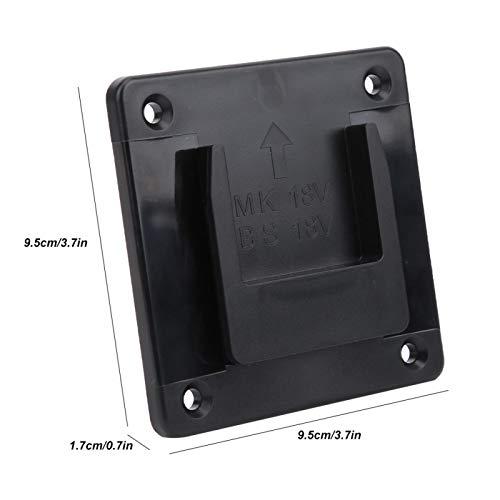 Estante de almacenamiento de herramientas, soporte de fijación de herramientas eléctricas de 2 piezas, soporte de almacenamiento de montaje en pared, taladro eléctrico industrial Bosch para(black, 12)