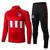 BVNGH Atlético Madrid - Camiseta deportiva de manga larga para entrenamiento de fútbol (talla S-XXL), color rojo 2-L