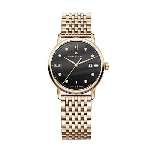 Maurice Lacroix Damen Analog Quarz Uhr mit Edelstahl Armband EL1094-PVP06-350-1