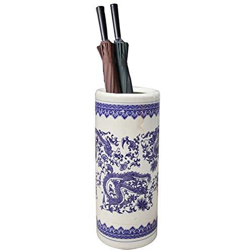 Paraplubak of rek, keramiek, geëmailleerd, traditionele stijl, lijst of vaas, blauw/wit (producten van keramiek) E