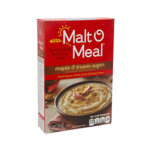 MaltOMeal Maple amp Brown Sugar Hot Cereals 28 Oz Box Pack of 3