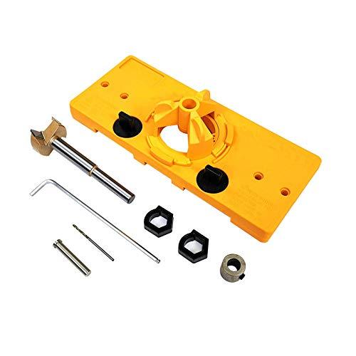 15mm-35mm Cup Style Hinge Jig Boring Hole Drill Guide Door Hole Template Wood Cutter Carpenter Strumenti di lavorazione del legno-Imposta A