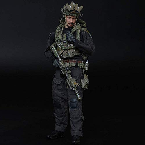 ZSMD 1/6 Military Soldiers Navy Seals Military Figure, DIY Movable Realistic Headsculpt Soldier Model Army Man Action Figures P