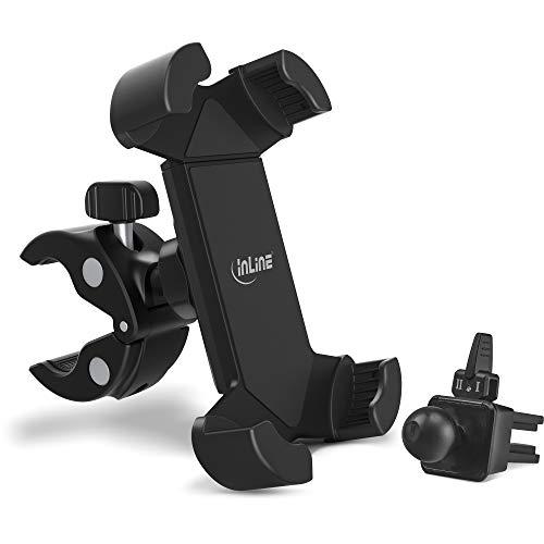 InLine One Click Easy 3 Drive & Ride Set mit Universalklemme und Lüftungsgitter-Clip, 23156F