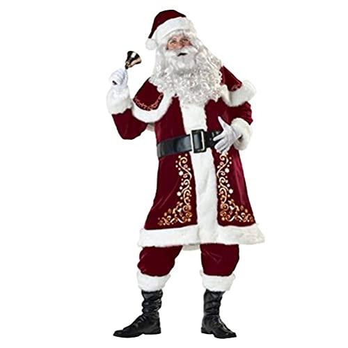 WBTY - Costume da Babbo Natale da donna con cappello e scialle di Babbo Natale, vestito sexy da cosplay per feste di Natale
