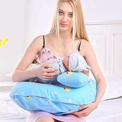 LYYAN Estera Cojín Lactancia Bebé Almohadas para Lactancia Algodón Multifuncional Ergonómico Amamantar Cojín Silla Sofá Cómodo Respirable Almohada de Enfermería (Color : H)