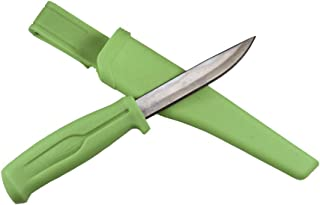 Promar Stainless Steel Fishing Bait Knife w/Sheath Green
