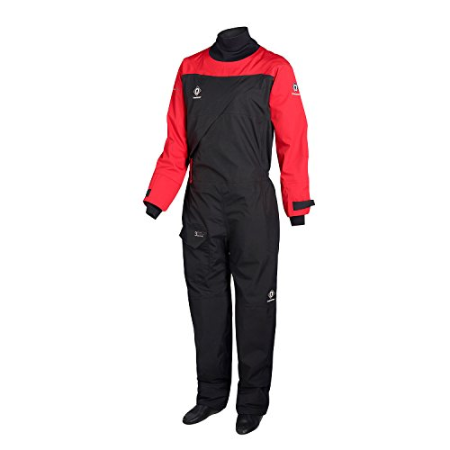 2018 Crewsaver Atacama Sport Drysuit Front Zip RED /, Black,...