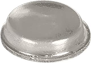 Rubber Bumper Cylindrical Pads for Glass Table Top, Desk, Cabinets, Drawers, Furniture - Transparent Clear Protective Bumpers With Self Adhesive - 12.7x3.5mm (10 ea. Per Bag) by Troy Systems