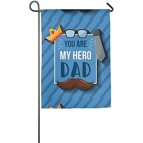 Auld-Shop Garden Flag-Custom Tú Eres mi héroe Dad Yard Flag