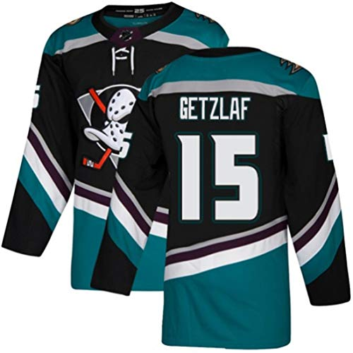 HZIH NHL Männer Sweatshirts Breath Eishockey Trikots Sporttraining Kleidung Langarm-T-Shirt Gesticktes Logo Getzlaf # 15,3XL