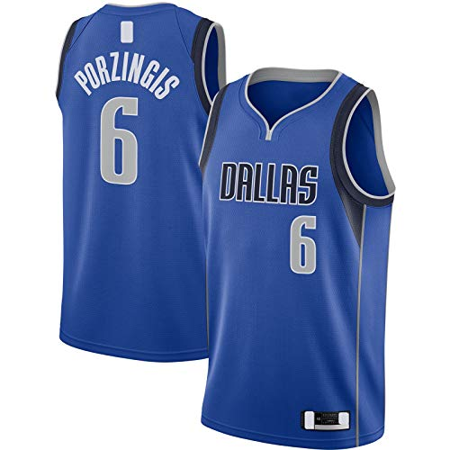 Kristaps Basketball Trikot Porzingis Stickerei Dallas Kurzarm Mavericks Outdoor #6 Swingman Jersey Blau - Icon Edition-S