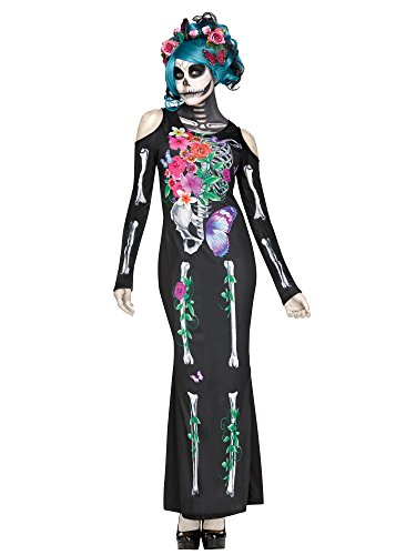 Fun World Women's Beautiful Bones Costume, Multi, Small/Medium