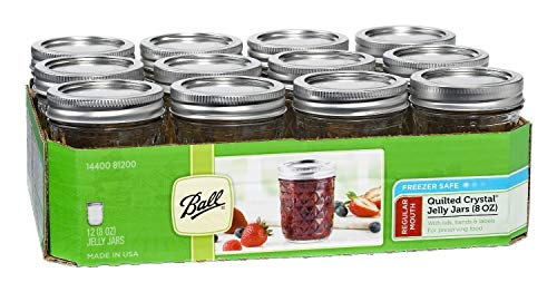 Ball Mason 8oz Quilted Jelly Jars