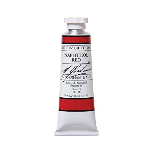 M. Graham Artist Oil Paint Naphthol Red 1.25oz/37ml Tube
