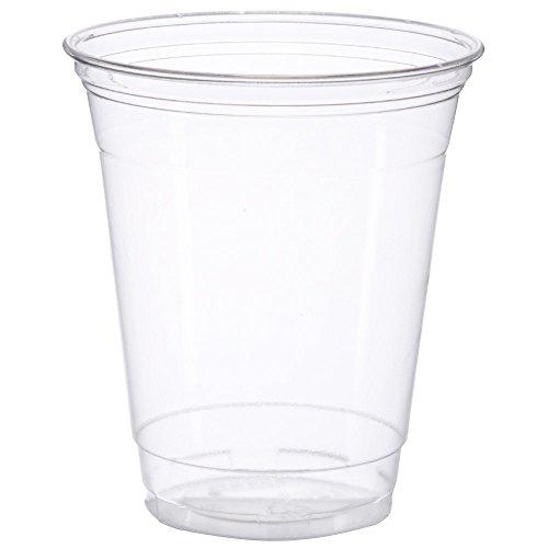 Dart SOLO TP12 12oz Clear Practical-fill Ultra Clear Squat PET Plastic Cups (Case of 1,000)