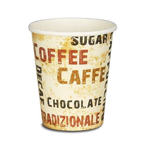 pack2go 1000 Premium Kaffeebecher - 8oz, 200ml, Pappe, Coffee to go Becher Barista, Pappbecher, Becher to Go, Einwegbecher
