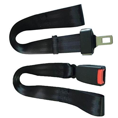 YAOBAO Sicherheitsgurt für Rollstuhl, Sicherheitsgurt für Rollstuhl, Auto Style-Gurt mit Metallschnalle (schwarz) 1St