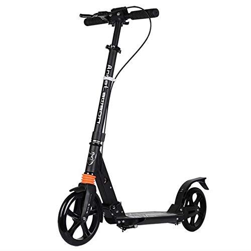 Scooters de Movilidad para NiñOs y Adultos Dos Ruedas Cuerpo de Aluminio Tres Alturas de Engranaje Plegable AmortiguacióN
