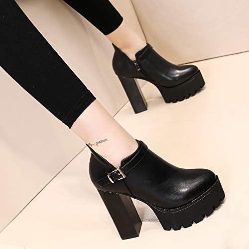 Yukun Schuhe mit mit mit hohen Absätzen Schuhe mit hohen Absätzen, Frauen frühling und Herbst dick mit Wasserdichte plattform Hate hohe gürtelschnalle Dicke Sohlen Mode Schuhe  Wählen Sie aus den neuesten Marken wie