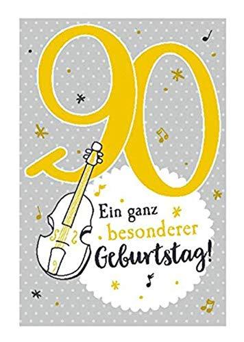 Depesche 5698.112 - Glückwunschkarte mit Musik, 90. Geburtstag