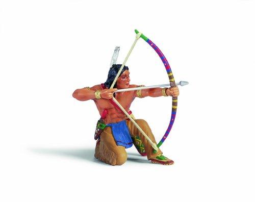 Schleich 70305  -  Figura/ Miniatura Indios, Sioux Archer, de Rodillas