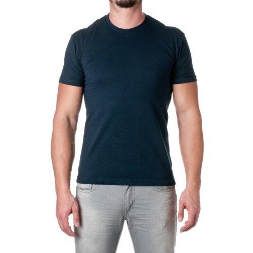 Camiseta masculina de manga curta com ajuste premium Next Level, Midnight Navy, Medium