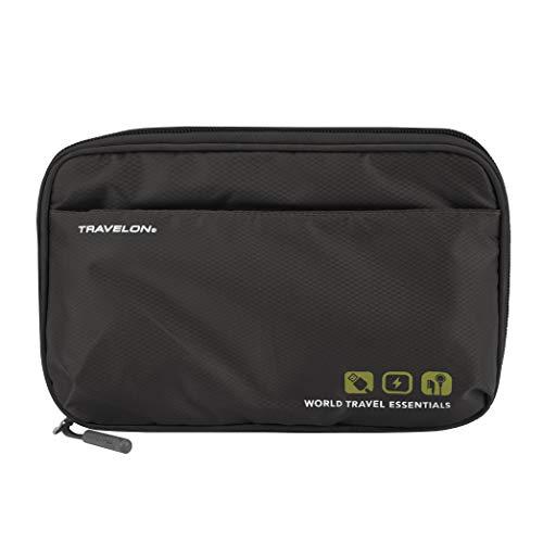 Travelon World Travel Essentials Tech Organizer, Black, One Size